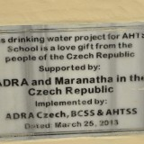 2013: Nová studna a 2 cisterny na vodu pro internátní školu AHTSS